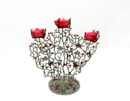 cb078m-candle-holder-coral_fish-3-spot-10-5x5-5x5-5-in