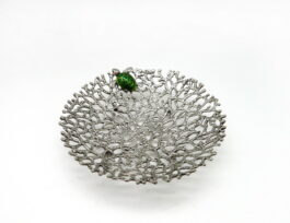 PT002.S.04 (Green) Coral with turtle 15x4 cm.