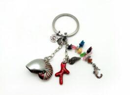 kr065-04-key-chain-nautilus-mix-12x4-5-cm
