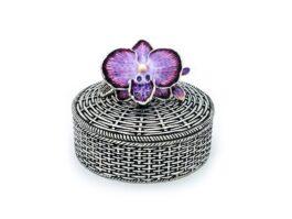 BX090 Weave Box, Orchid 7x7x5.5 cm.