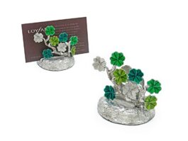 CH064 Clover leaves card holder 4.5x6x5.5 cm.