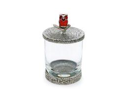 WG012 Owl Glass Holder 7.5x7.5x12.5 cm.