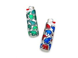LT011 Lighter Elephants 1.5x2.5x8 cm.