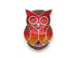 TR104.C Owl tray with color 7x10x1.5 cm.